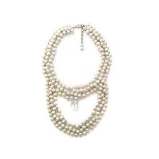 Handmade Double Freshwater White Pearl Layer Necklace (Thailand)