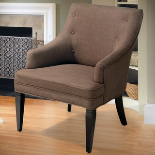 Lindsay Brown/ Beige Accent Chair by Christopher Knight Home