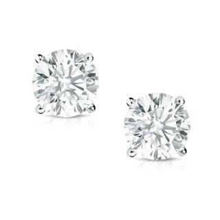 Auriya 14K Gold 1/2ct TDW Round Diamond Stud Earrings