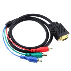 INSTEN 3-foot Black VGA to RGB Component Cable