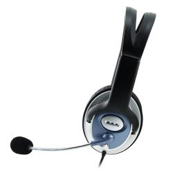 INSTEN Black VOIP/ SKYPE Headset with Microphone and 78-inch Cable - Thumbnail 1
