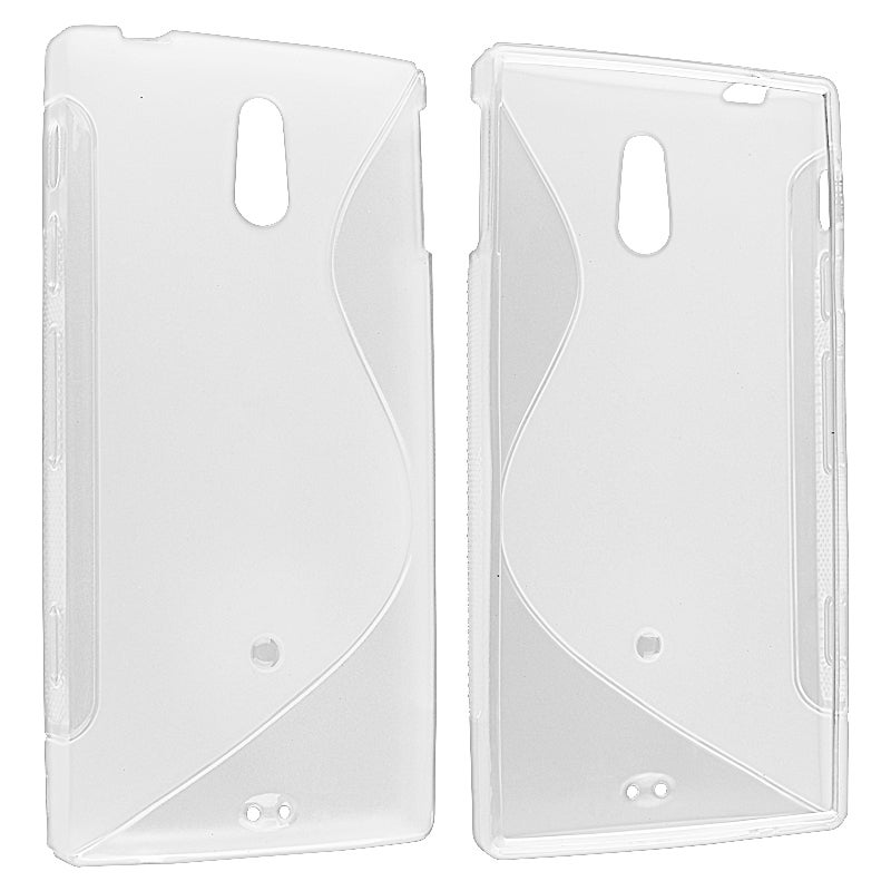 Frost Clear S Shape TPU Skin Case for Sony Ericsson Xperia P LT22i