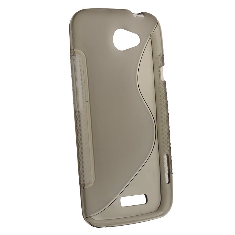 Smoke S Shape TPU Rubber Skin Case for HTC One X
