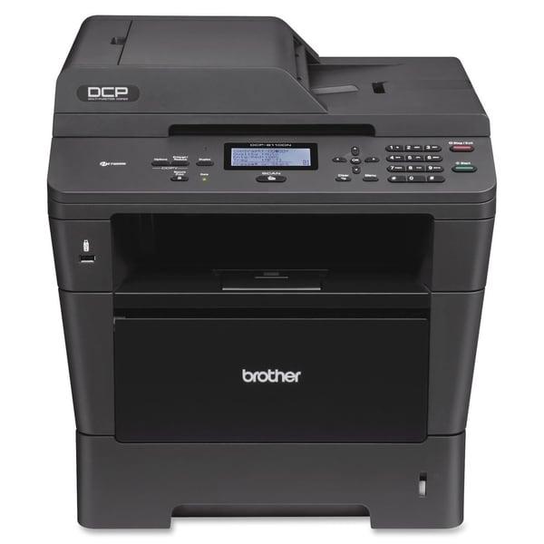 Brother DCP-8110DN Laser Multifunction Printer - Monochrome - Plain P