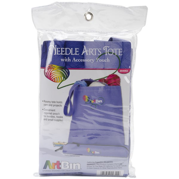 ArtBin Needle Arts Tote with Accessory Pouch-Periwinkle