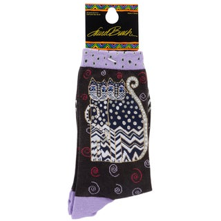 Laurel Burch Socks-Polka Dot Gatos