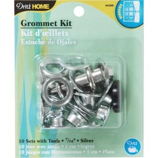"Grommets 7/16"" W/Stud Setter 10/Pkg-Silver"