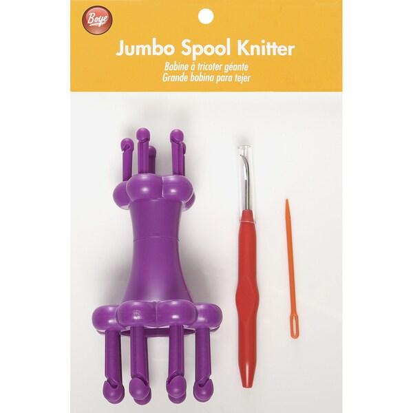 Boye Plastic Jumbo Spool Knitter Set with Needle/Hook/Instructions