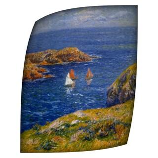 Henri Moret Calm Seas Rolled Canvas Art (18 x 24) - 18 x 24