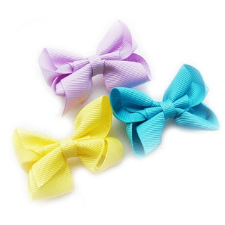 Assorted Solid Boutique Bow Clips (Set of 3)
