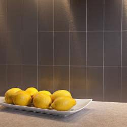 Aspect 3x6-inch Brushed Stainless Short Grain Metal Peel and Stick  Backsplash Kit