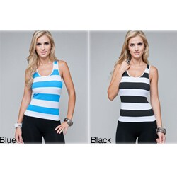 Stanzino Women's One-Size Striped Racer Back Tank Top