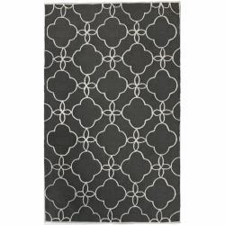 nuLOOM Handmade Indoor / Outdoor Lattice Trellis Charcoal Rug (8'3 x 11')