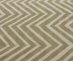 nuLOOM Handmade Alexa Chevron Green Wool Runner (2'6 x 10') - Thumbnail 2