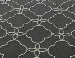 nuLOOM Handmade Indoor / Outdoor Lattice Trellis Charcoal Rug (6' x 9') - Thumbnail 2
