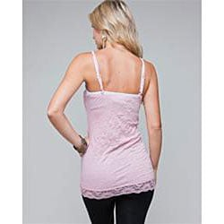 Stanzino Women's Lace Trim Wrinkled Cami