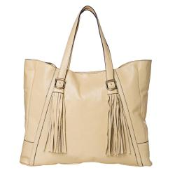 See by Chloe Cream Leather Tote Bag