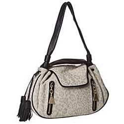 See by Chloe Cream Leopard Canvas/ Leather Satchel