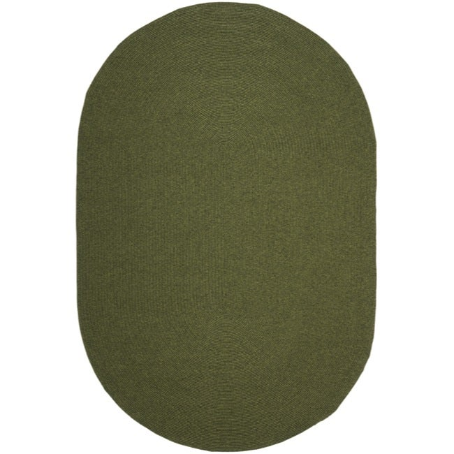 Safavieh Hand-woven Reversible Green Braided Rug (6' x 9' Oval)