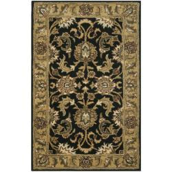 Safavieh Handmade Traditions Black/ Light Brown Wool Rug (2'3 x 4')