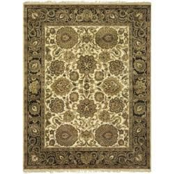 Safavieh Handmade Heirloom Ivory/ Black Wool Rug (7'6 x 9'6)