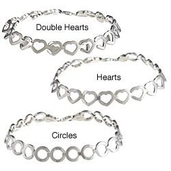 La Preciosa Sterling Silver Matte and Shiny Reversible Bracelet