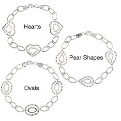 La Preciosa Sterling Silver Hammered Design Bracelet