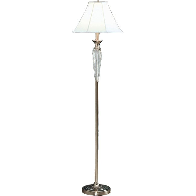 Glass and Metal 59-inch Floor Lamp