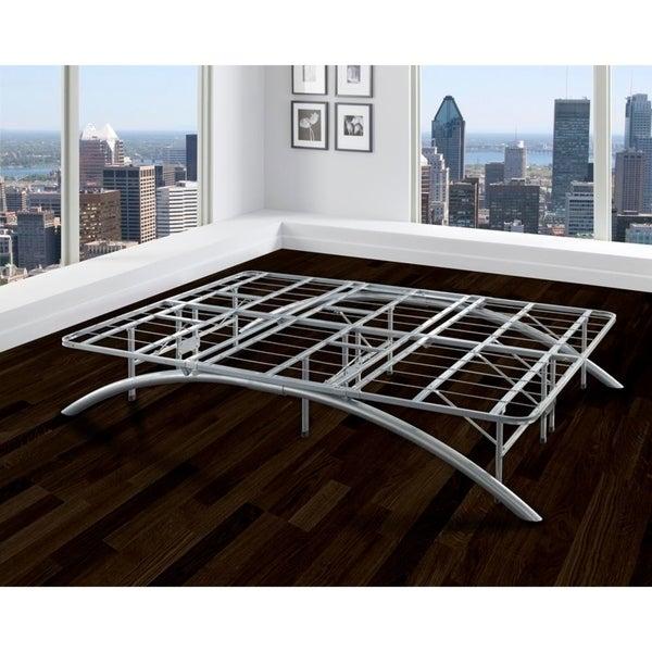 Sleep Sync Arch Flex Twin Silver 14-inch Platform Bed Frame