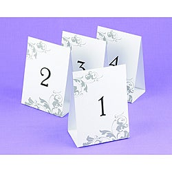 Wedding Table Number Tents