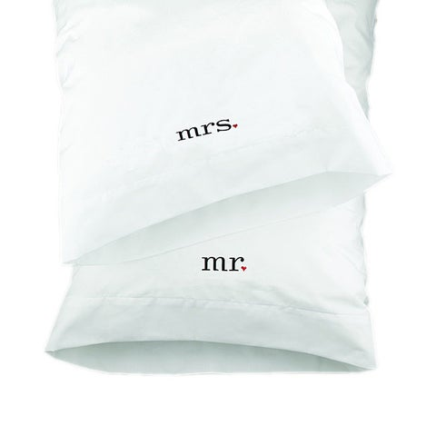 HBH Together Mr. & Mrs. Wedding Pillowcases