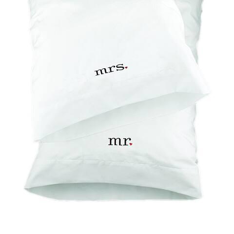 HBH Together Mr. & Mrs. Wedding Pillowcases