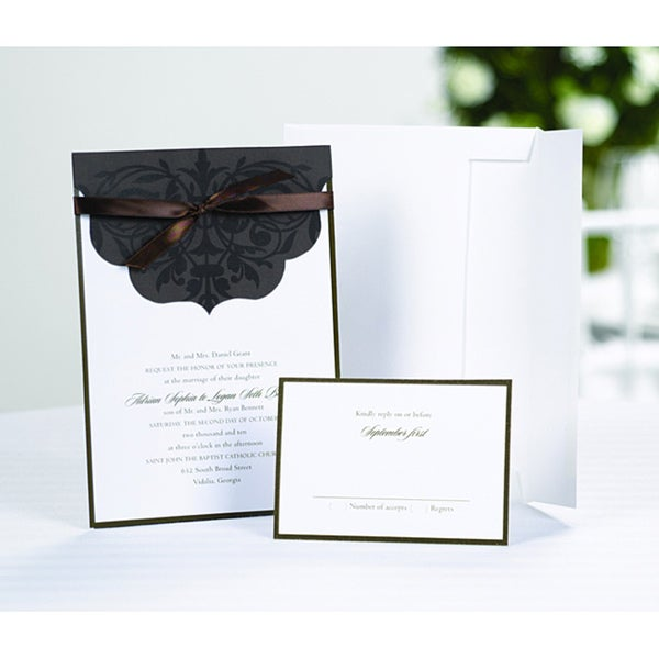 Shop Scalloped Top Wrap Invitation Kit