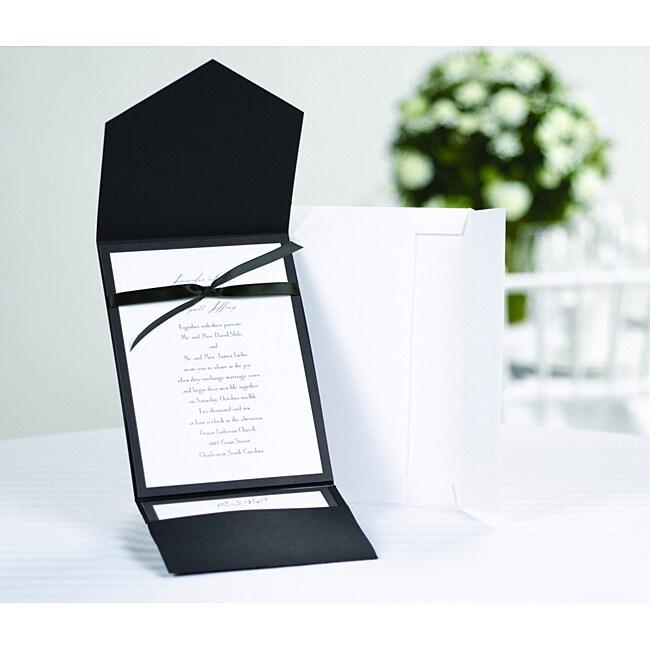 Classic Black and White Pocket Invitation Kit