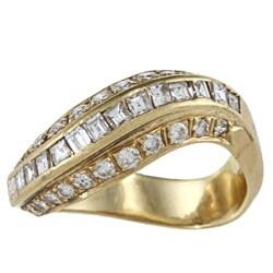 18k Yellow Gold 1 1/5ct TDW Estate Ring (I-J, SI1-SI2)