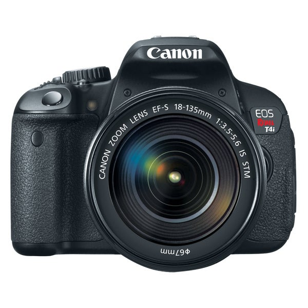 Canon EOS Rebel T4i 18MP CMOS Digital SLR Camera with EF-S 18-135mm IS STM Lens