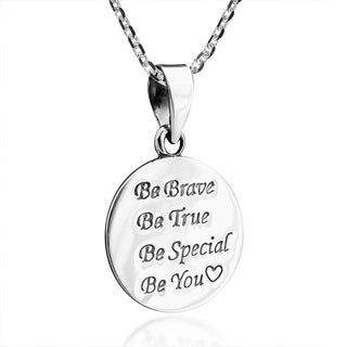 Handmade Inspiring 'Be You' .925 Sterling Silver Pendant Necklace (Thailand)