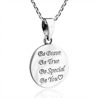 Handmade Inspiring Be You .925 Sterling Silver Pendant Necklace (Thailand)