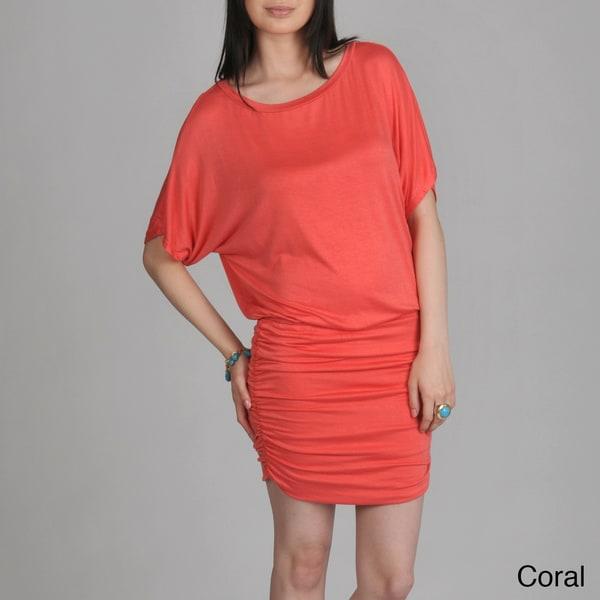 24/7 Comfort Apparel Women's Blouson/ Ruched Dress