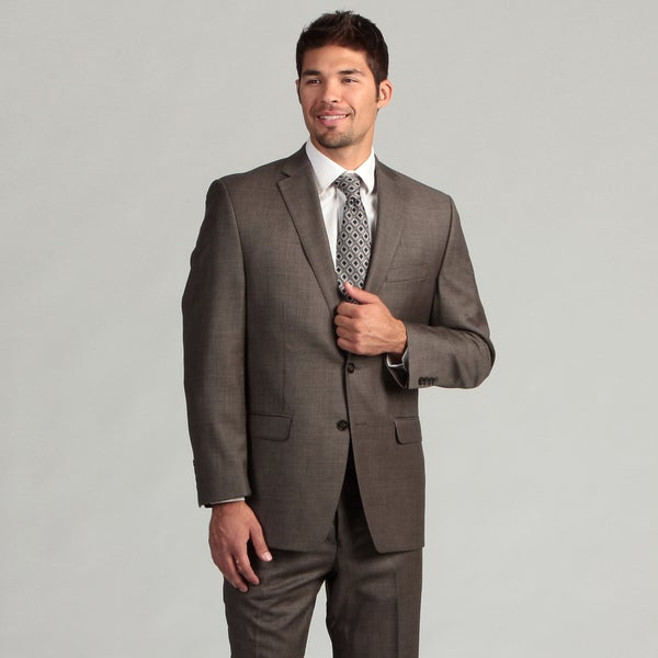 Calvin Klein Men's Brown 2-button Wool Suit