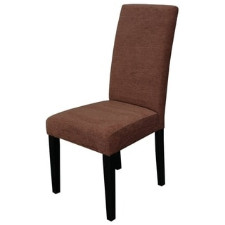 Aprilia Perfect Brown Upholstered Dining Chairs (Set of 2)