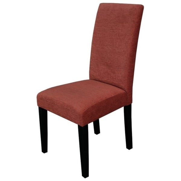 Aprilia Burnt Orange Upholstered Dining Chairs Set Of 2