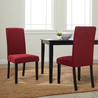 Monsoon Aprilia Dark Red Fabric Dining Chairs (Set of 2)
