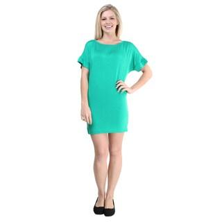 24/7 Comfort Apparel Women's Oversized T-shirt Dress