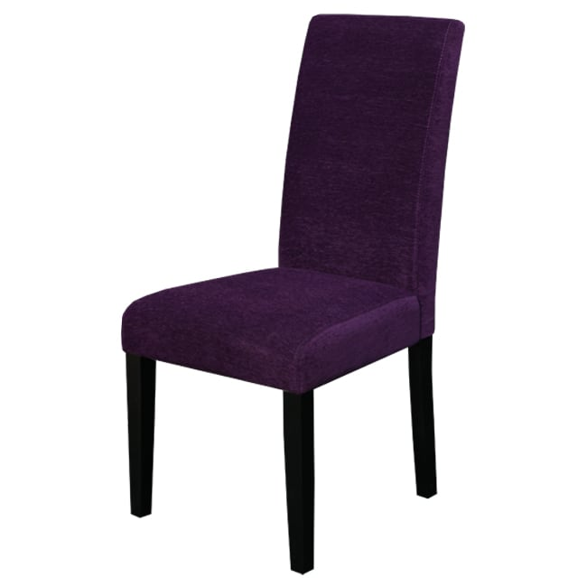 Purple Leather Dining Chairs: Aprilia Eggplant Upholstered Dining Chairs (Set Of 2