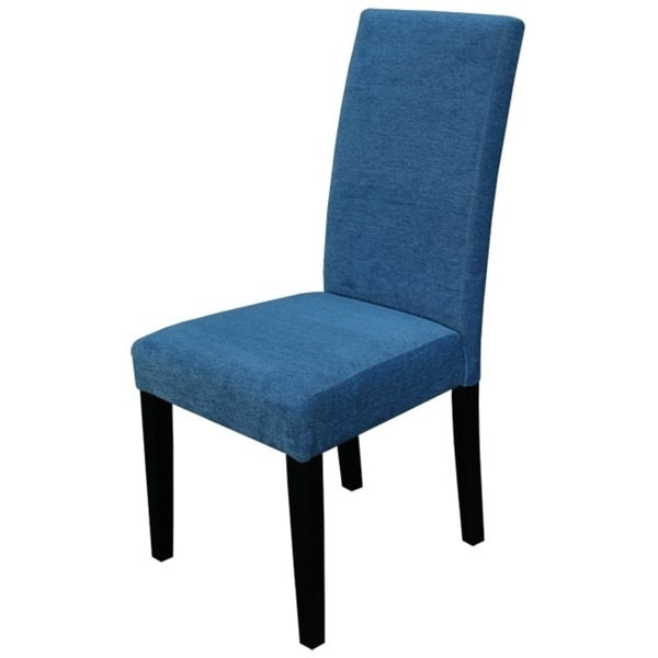 Aprilia Blue Upholstered Dining Chairs (Set of 2)