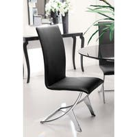 Oliver & James Murray Black Leatherette Dining Chair (Set of 2)