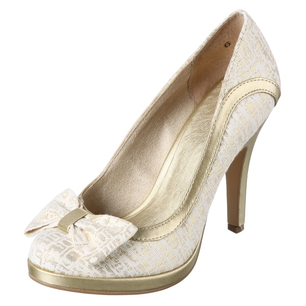 Seychelles Women's 'Exclamation Point' Gold Pumps