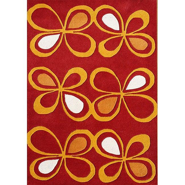 Alliyah Handmade Fiesta New Zealand Blend Wool Rug (5' x 8')
