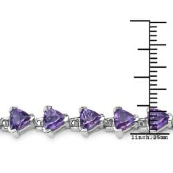 Malaika Sterling Silver 10.35ct Genuine African Amethyst Bracelet